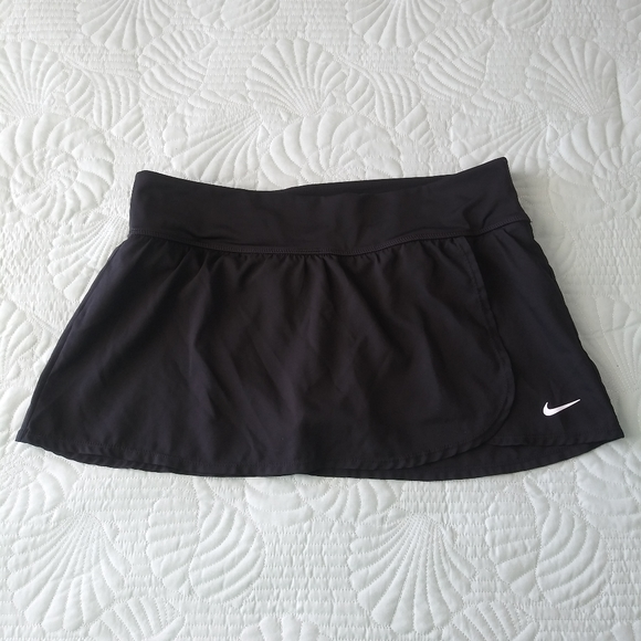 Nike Skirt Dri Fit Active Tennis Wrap Front Black
